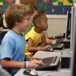 Boys in Computer Classroom